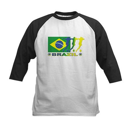Brazil World Cup Soccer 2006 Kids Baseball Jersey