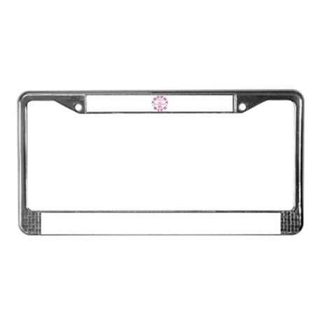Trophy Wife since 07 Pink License Plate Frame