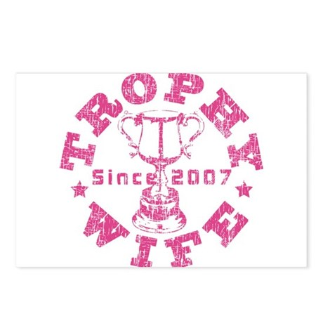 Trophy Wife since 07 Pink Postcards (Package of 8)