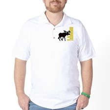 Vertical Yellowstone Moose T-Shirt