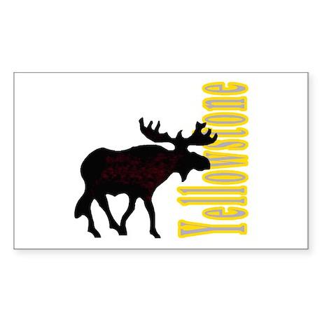 Vertical Yellowstone Moose Rectangle Sticker