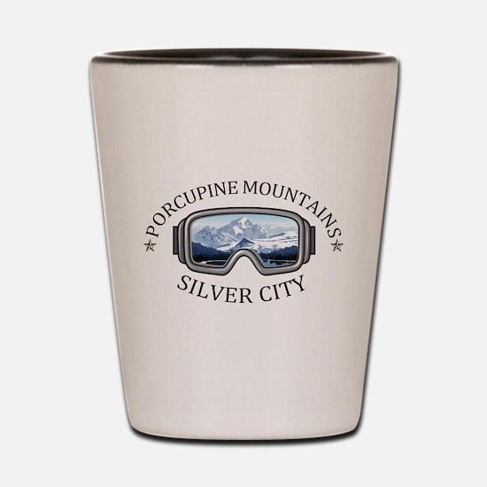 Porcupine Mountains - Silver City - M Shot Glass