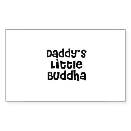 Daddy's Little Buddha Rectangle Sticker
