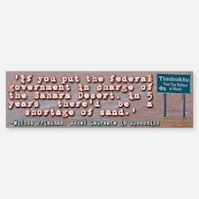 Milton Friedman on Government Efficiency Bumper Bumper Sticker