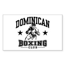 Dominican Boxing Rectangle Decal