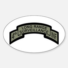 4th INF LRS ACU Long Range Su Oval Decal