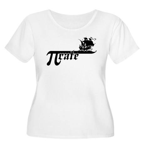 Pi rate Ship Women's Plus Size Scoop Neck T-Shirt