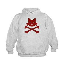 Plaid Kitty X-Bones by Rotem Gear Hoodie