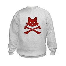 Plaid Kitty X-Bones by Rotem Gear Sweatshirt