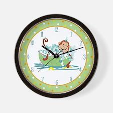 Monkey in Tub Clock #2 Orange border