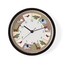Zanzibar Jungle Safari Wall Clock