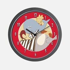 Alphabet Soup Animals Wall Clock