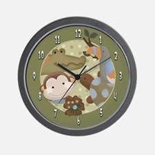 Papagayo Monkey Wall clock