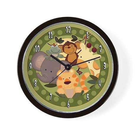 Jungle Safari Animals Wall Clock