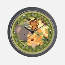 Jungle Safari Animals Wall Clock