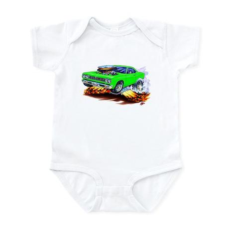 Roadrunner Lime Car Infant Bodysuit