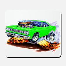 Roadrunner Lime Car Mousepad