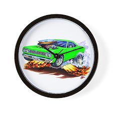 Roadrunner Lime Car Wall Clock