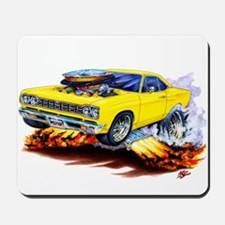 Roadrunner Yellow Car Mousepad