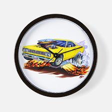 Roadrunner Yellow Car Wall Clock