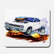 Roadrunner White Car Mousepad