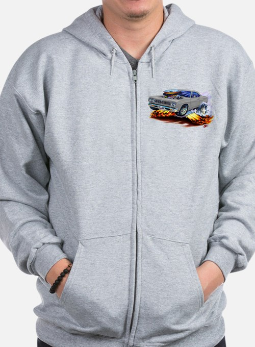 Roadrunner Silver/Grey Car Zip Hoodie