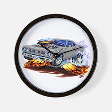 Roadrunner Silver/Grey Car Wall Clock