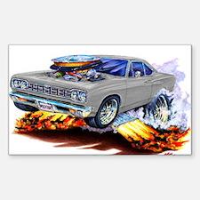 Roadrunner Silver/Grey Car Rectangle Decal