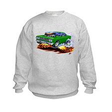 Roadrunner Green Car Sweatshirt