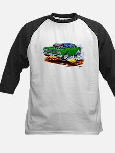 Roadrunner Green Car Kids Baseball Jersey