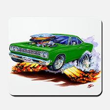 Roadrunner Green Car Mousepad