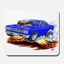 Roadrunner Blue Car Mousepad