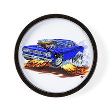 Roadrunner Blue Car Wall Clock