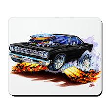 Roadrunner Black Car Mousepad