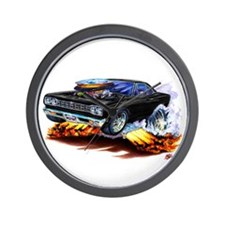 Roadrunner Black Car Wall Clock