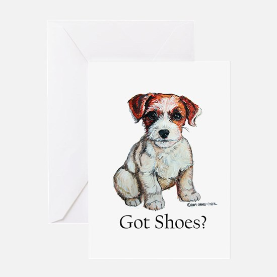 Jack Russell Shoes Greeting Card