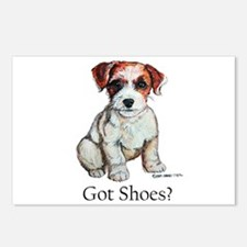 Jack Russell Shoes Postcards (Package of 8)