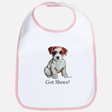 Jack Russell Shoes Bib