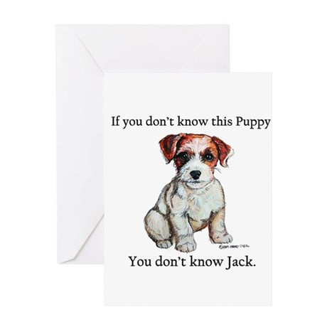 Don't Know Jack Russell Greeting Card