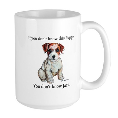 Don't Know Jack Russell Large Mug