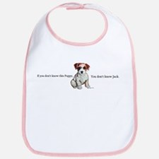 Don't Know Jack Russell Bib