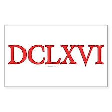 DCLXVI Rectangle Decal