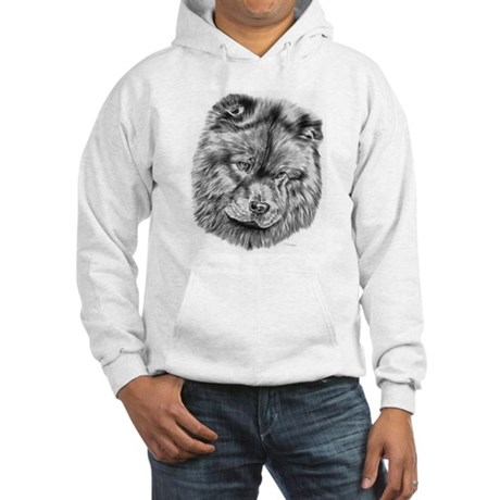 Chow Chow Pencil Drawing Hooded Sweatshirt
