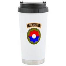 9th Infantry Division with Recon Tab Travel Mug
