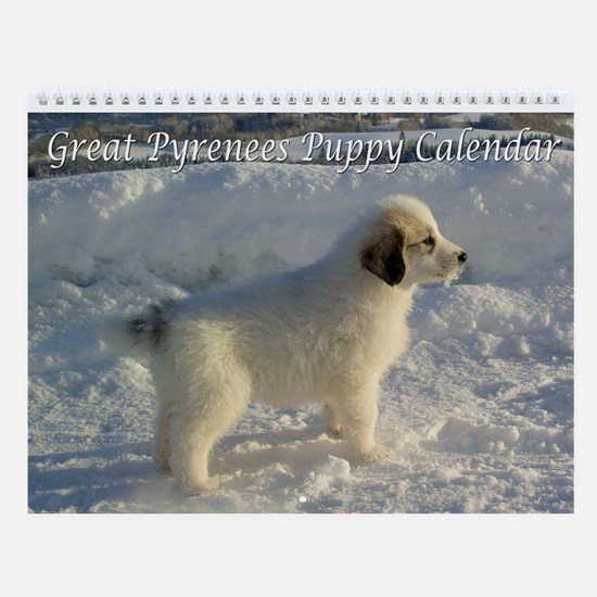 Great Pyrenees Puppy Wall Calendar