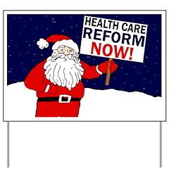 Santa for Health Care Reform Yard Sign