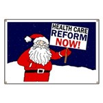 Santa for Health Care Reform Banner