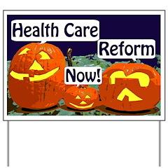 Pumpkins for Health Care Yard Sign