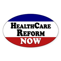 Health Care Reform Now Oval Decal