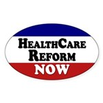 Health Care Reform Now Oval Sticker